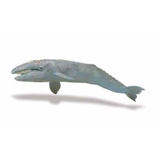 Speelgoed nep grijze walvis 34 cm