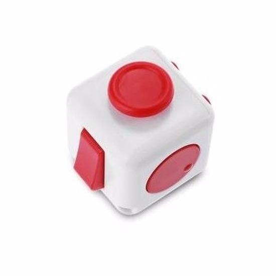 Anti stress speelgoed kubus wit rood