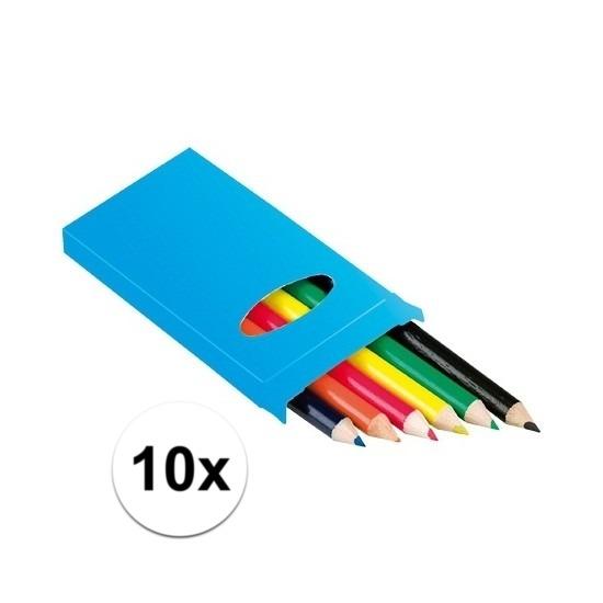 10x doosje potloden 6 stuks
