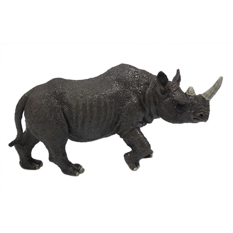 Grijze speelgoed neushoorn 12 cm