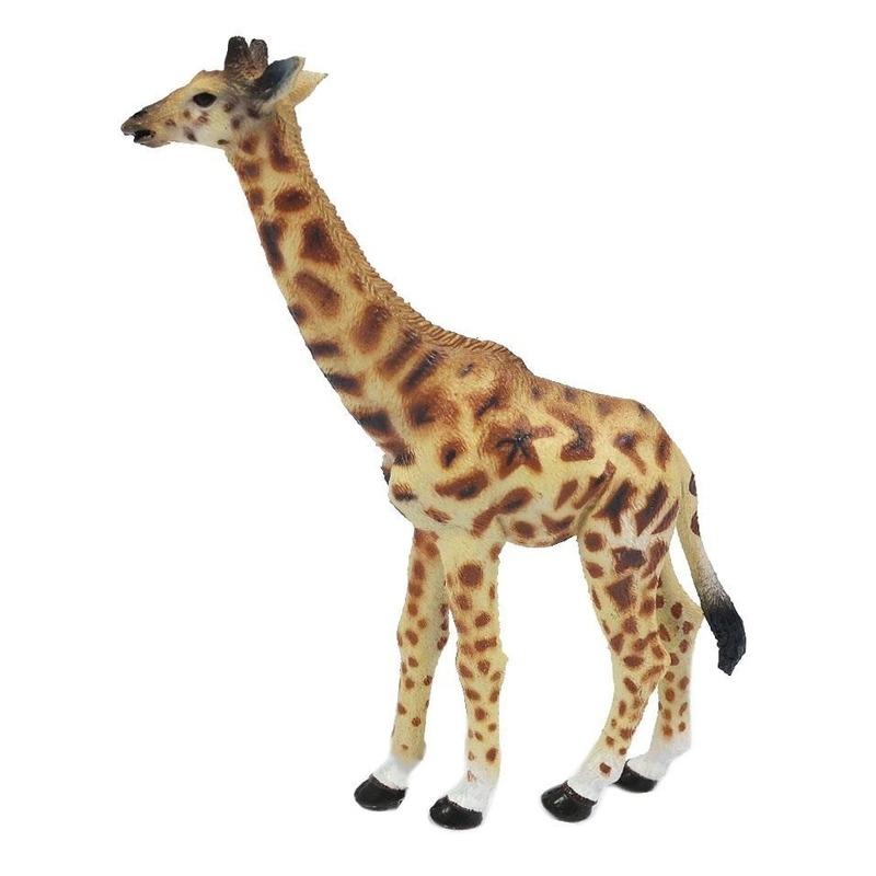 Geel bruine speelgoed giraf 15 cm