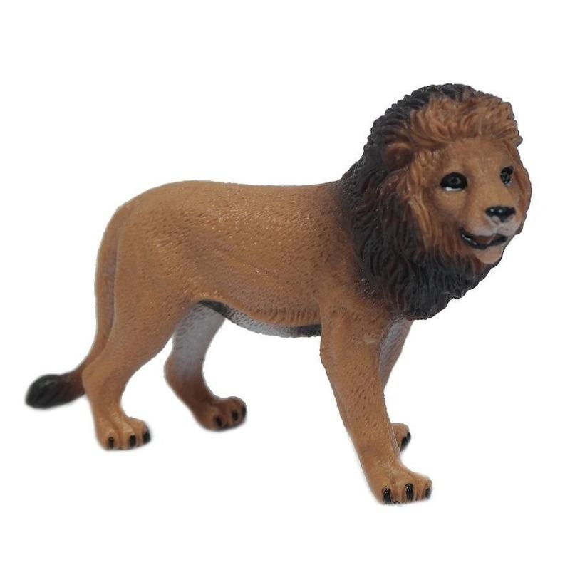 Bruine speelgoed leeuw 9 cm