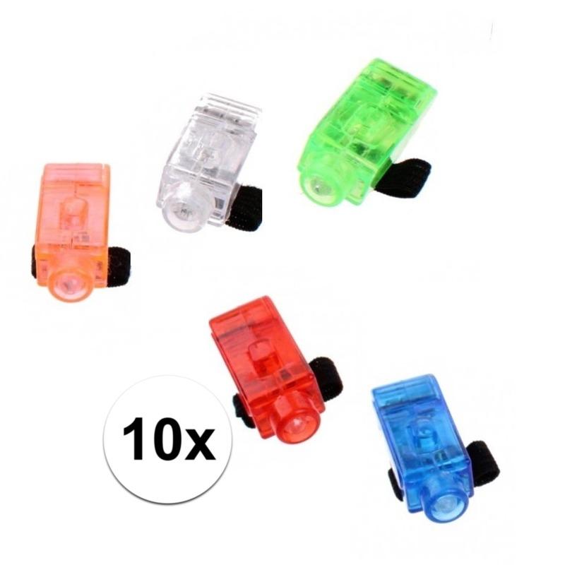 Led speelgoed vingerlampjes 10 stuks