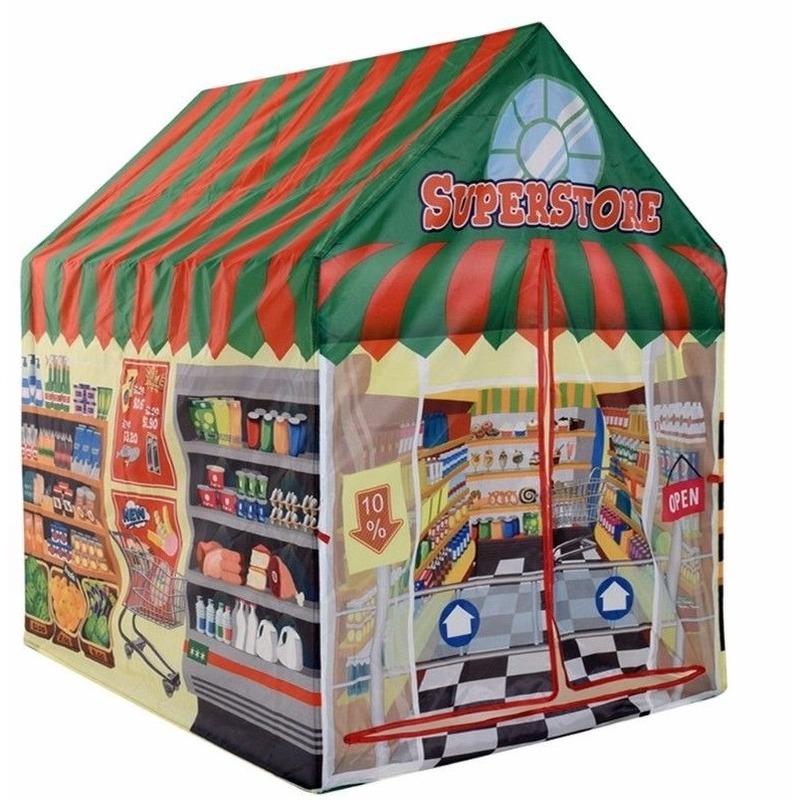 Speelgoed speeltent supermarkt winkel 102 cm