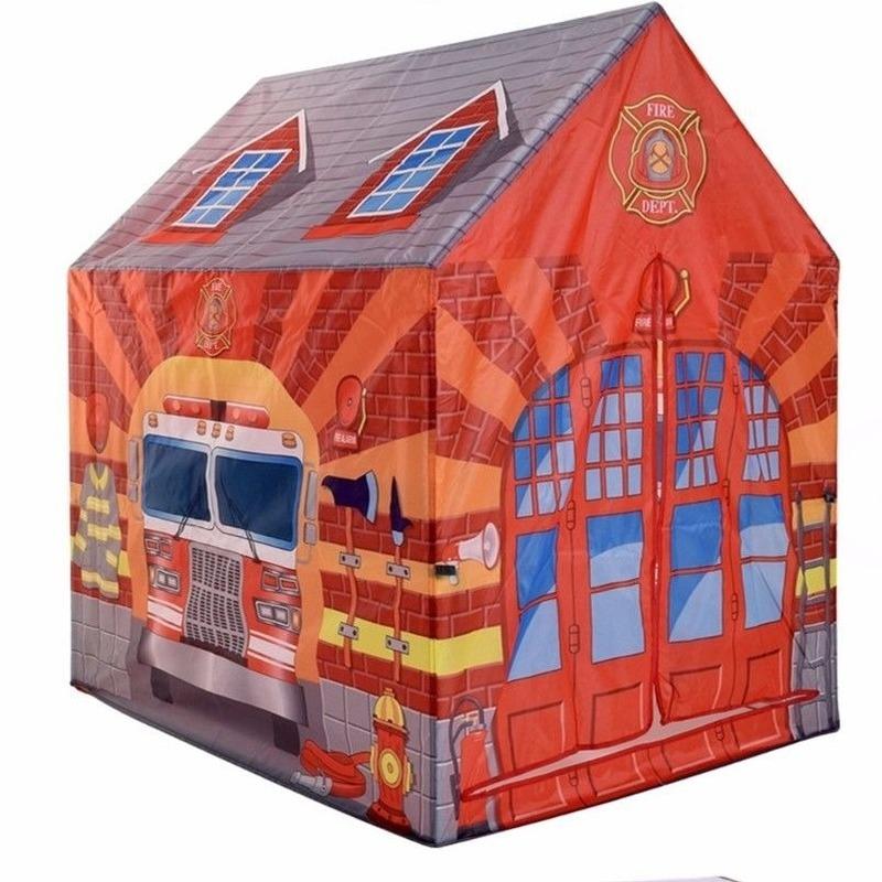 Speelgoed speeltent brandweerkazerne 102 cm