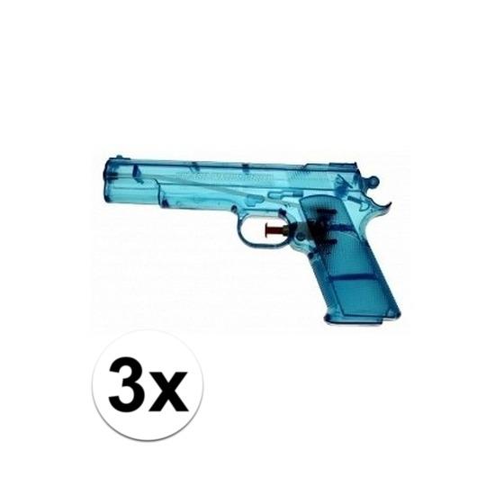 3x voordelige waterpistolen blauw
