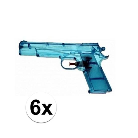 6x voordelige waterpistolen blauw
