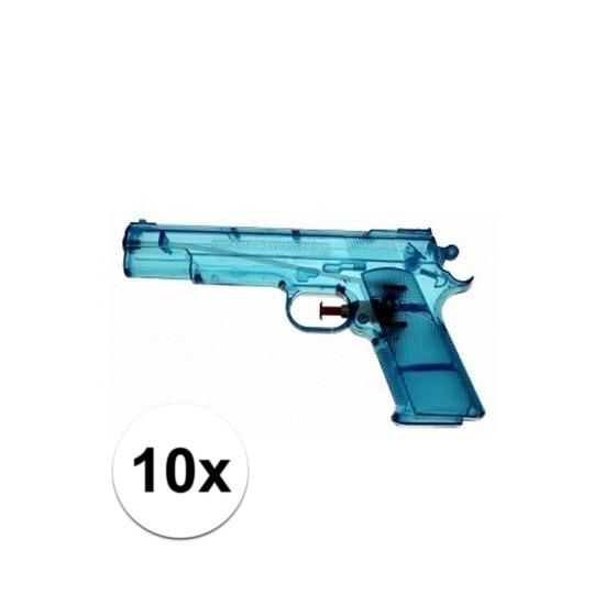 10x voordelige waterpistolen blauw