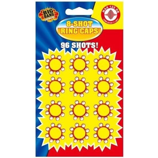 8 schots speelgoed plaffertjes 36x ringen