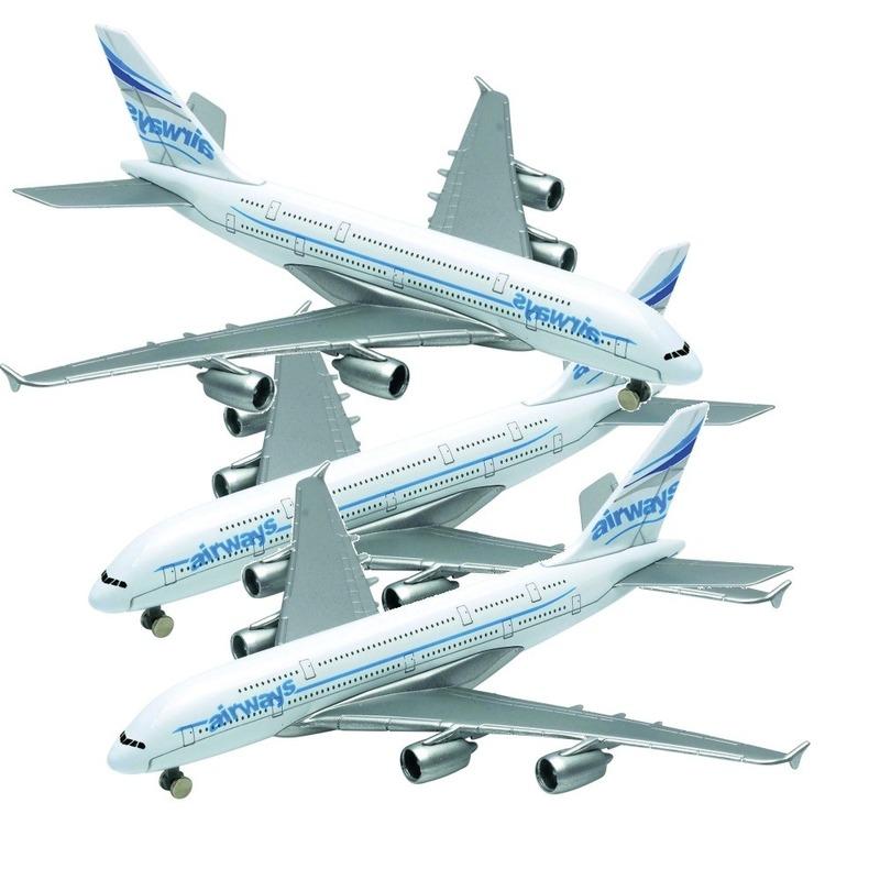 3x airbus a380 speelgoed vliegtuigen