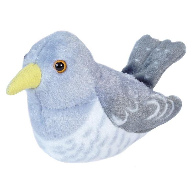 Pluche koekoek vogeltje dierenknuffel 13 cm