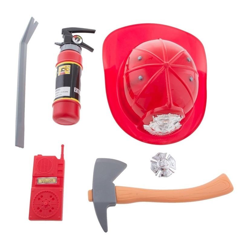 6 delige brandweer verkleed set voor kinderen