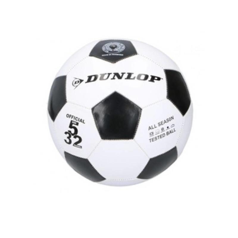 Dunlop junior voetbal maat 5 zwart wit