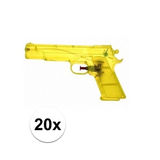 20 stuks voordelige waterpistolen weggevertjes geel