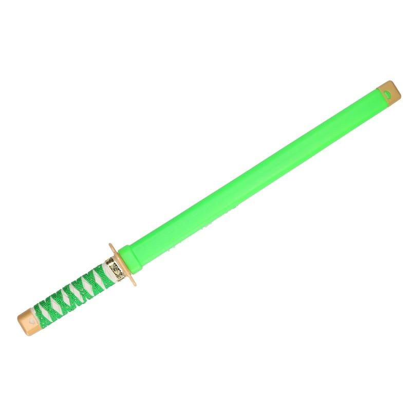 Speelgoed ninja zwaard groen carnaval 65 cm