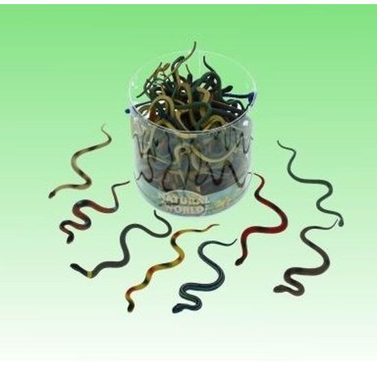 Plastic dieren kleine slangen van 15 cm reptielen dieren decoratie speelgoed