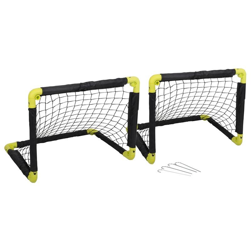 2x inklapbaar voetbaldoel 50 cm speelgoed