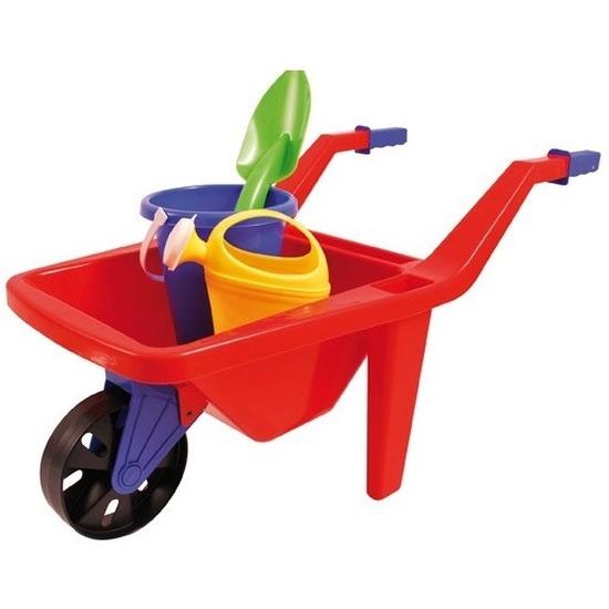 Speelgoed rode kruiwagen zandbak setje 65 cm