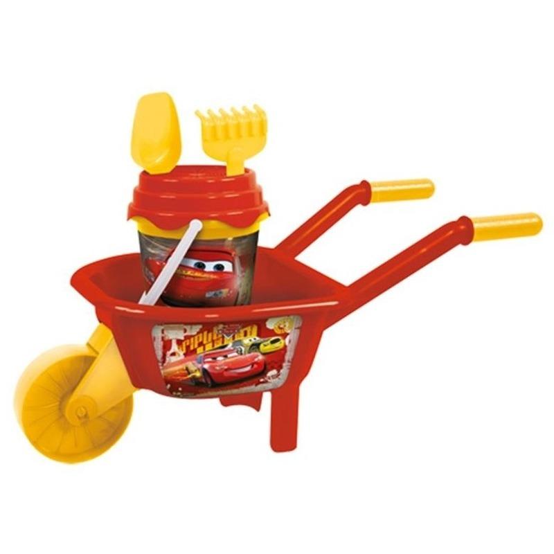 Disney cars speelgoed kruiwagen zandbak setje 65 cm