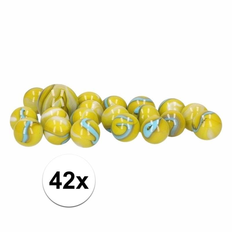 Glazen knikkers speelgoed 42x green trolls