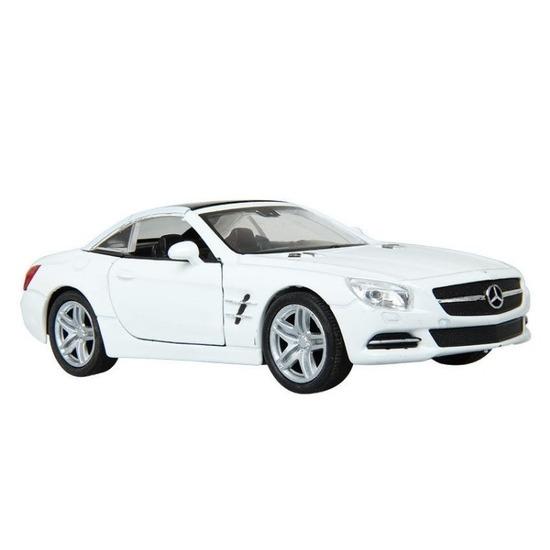 Speelgoed mercedes benz 2012 sl500 wit welly autootje 12 cm