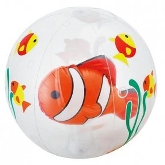 Opblaas doorzichtige strandbal met vissen 61 cm waterspeelgoed