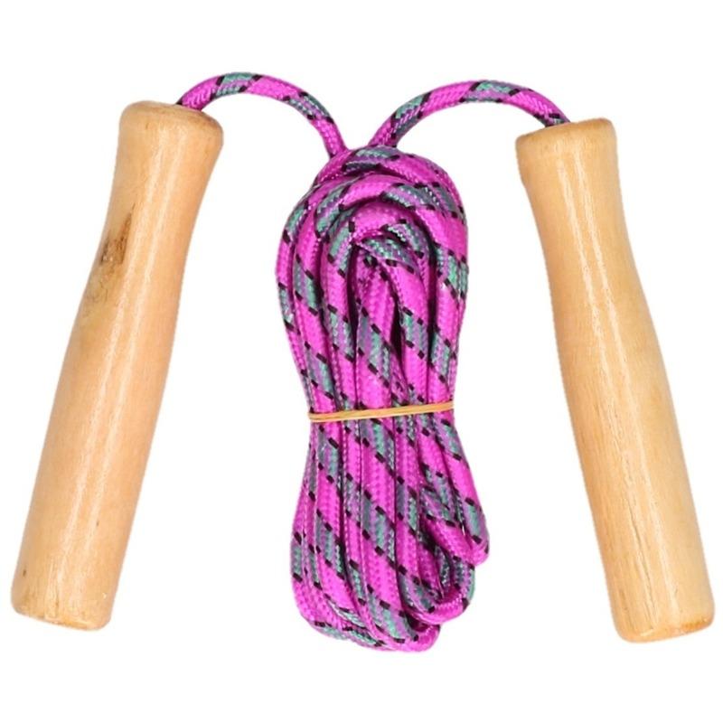 Buitenspeelgoed roze springtouw 236 cm