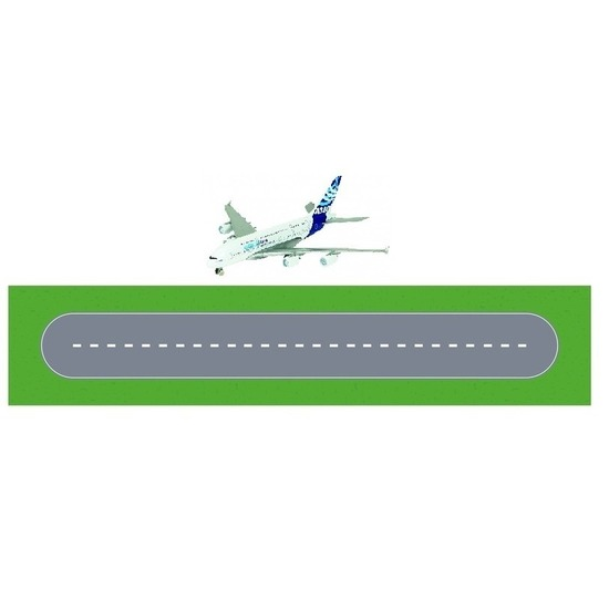 Luchthaven landingsbaan diy speelgoed stratenplan kartonnen speelkleed met vliegtuig