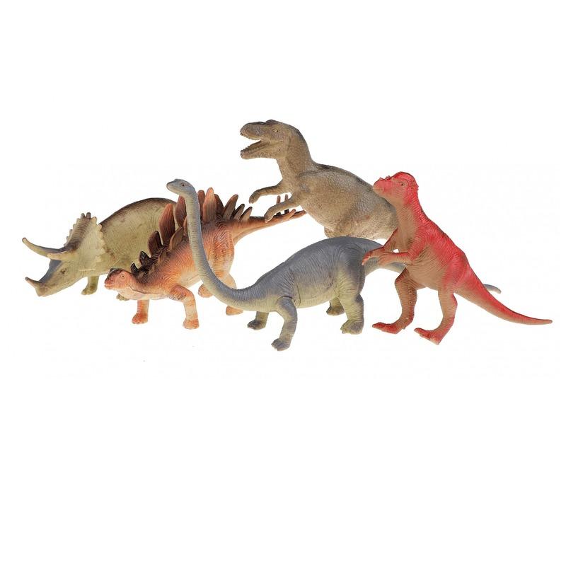 5x plastic dino figuren speelgoed