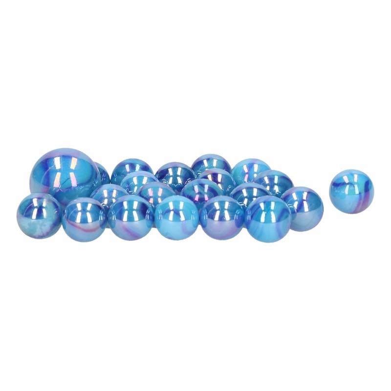 Glazen knikkers speelgoed 63x aquamatic