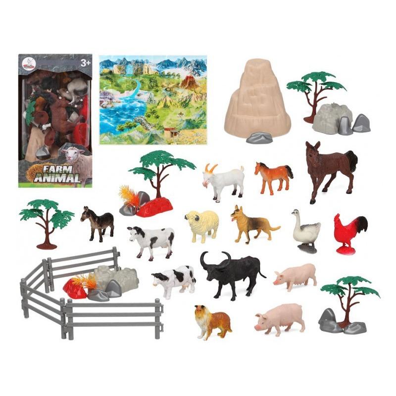 14x plastic boerderijdieren speelgoed figuren voor kinderen