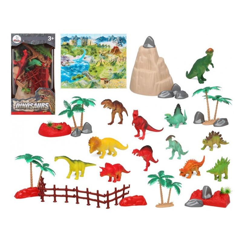 12x plastic dinosaurussen speelgoed figuren voor kinderen