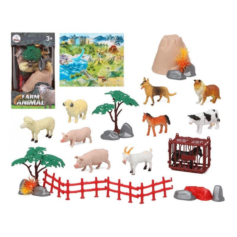 10x plastic boerderijdieren speelgoed figuren voor kinderen