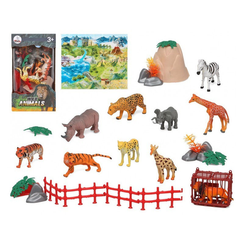 10x plastic safaridieren speelgoed figuren voor kinderen