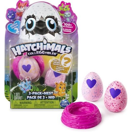 Speelgoed hatchimals colleggtibles nest met 2 eieren roze seizoen 2
