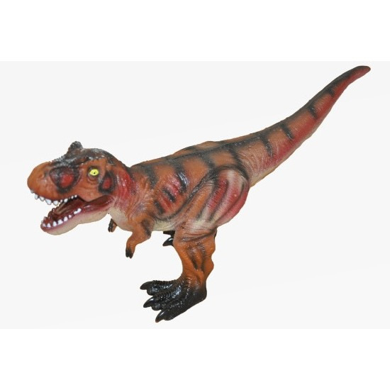 Grote bruine plastic t rex dinosaurus 63 cm speelgoed