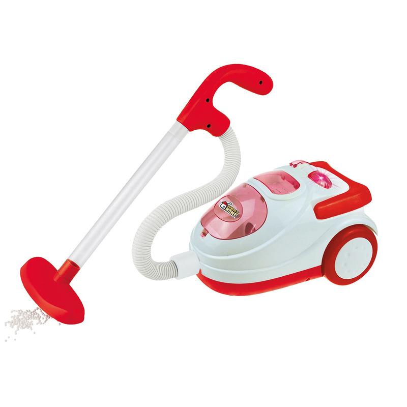 Mini speelgoed stofzuiger met licht en geluid 19 x 14 cm voor jongens/meisjes/kinderen
