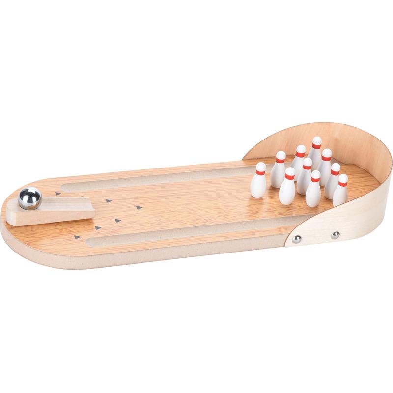 Houten bowling kegel mini binnen speelgoed set 30 cm
