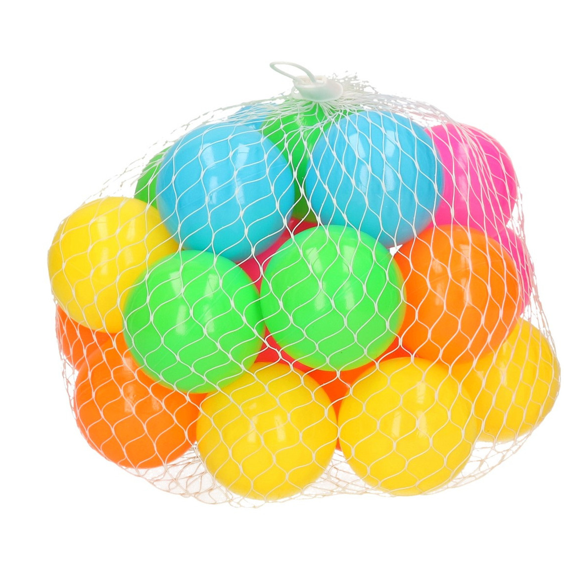 25x ballenbakballen neon kleuren 6 cm speelgoed