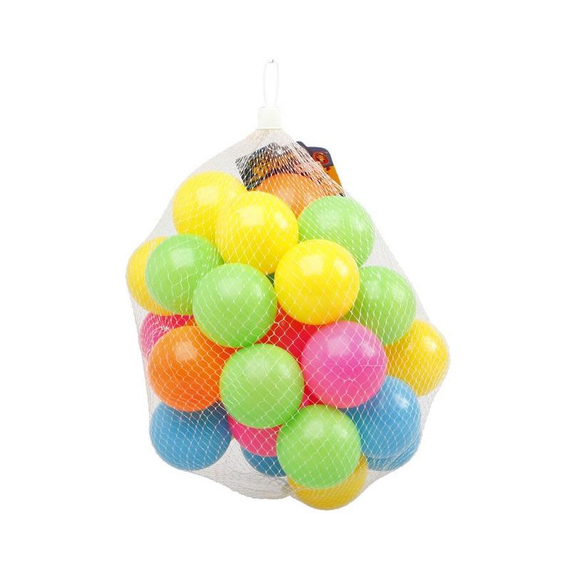 100x ballenbakballen neon kleuren 6 cm speelgoed