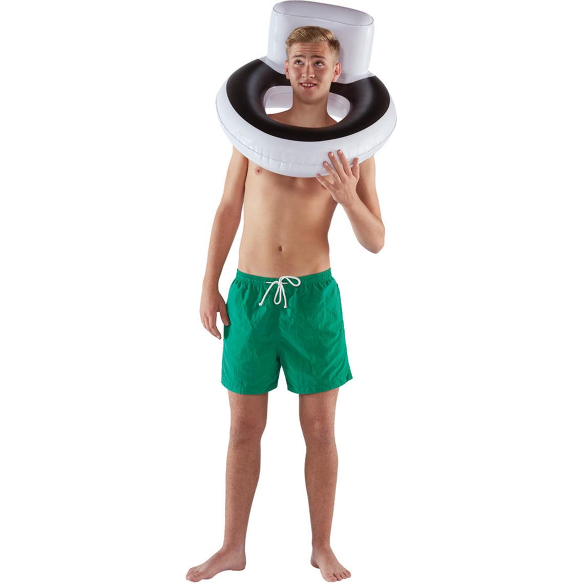Waterspeelgoed toiletpot zwemband zwemring 76 x 40 cm voor jongens meisjes kinderen en dames heren volwassenen