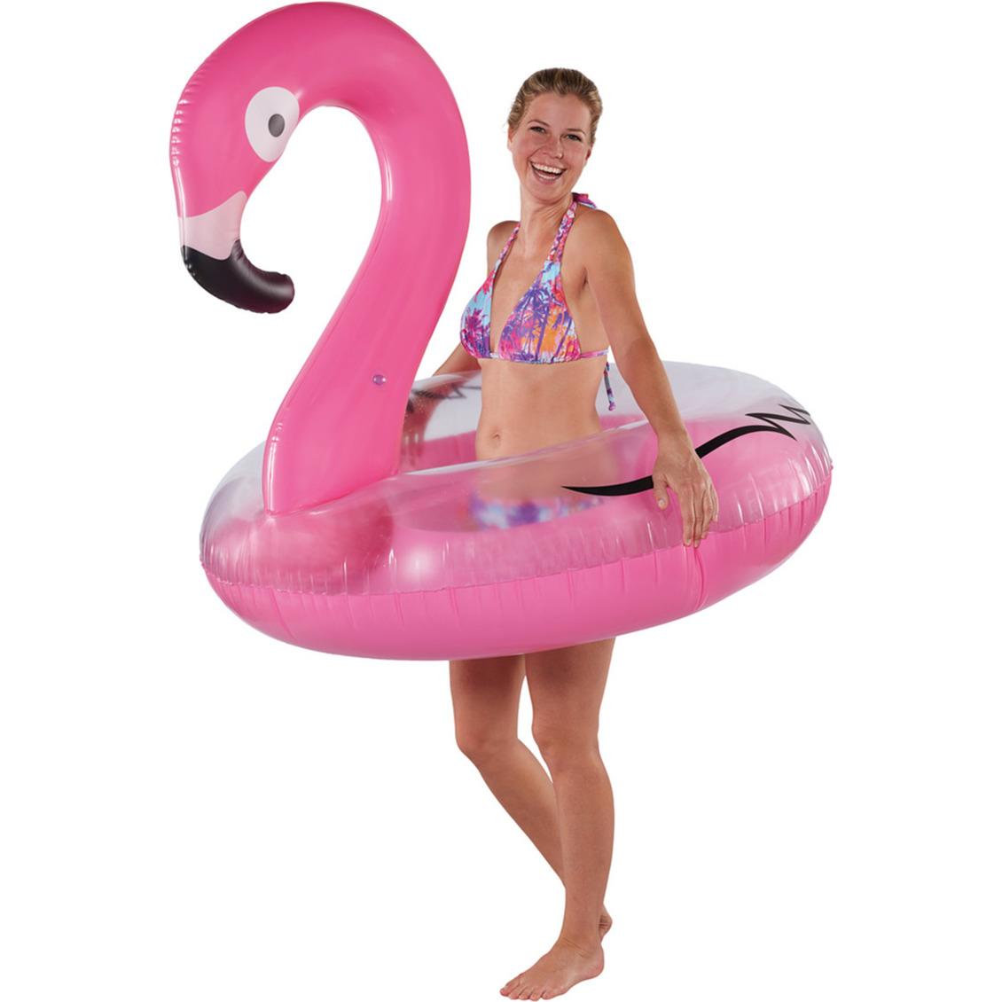 Waterspeelgoed roze flamingos zwemband zwemring 120 cm voor jongens meisjes kinderen en dames heren volwassenen