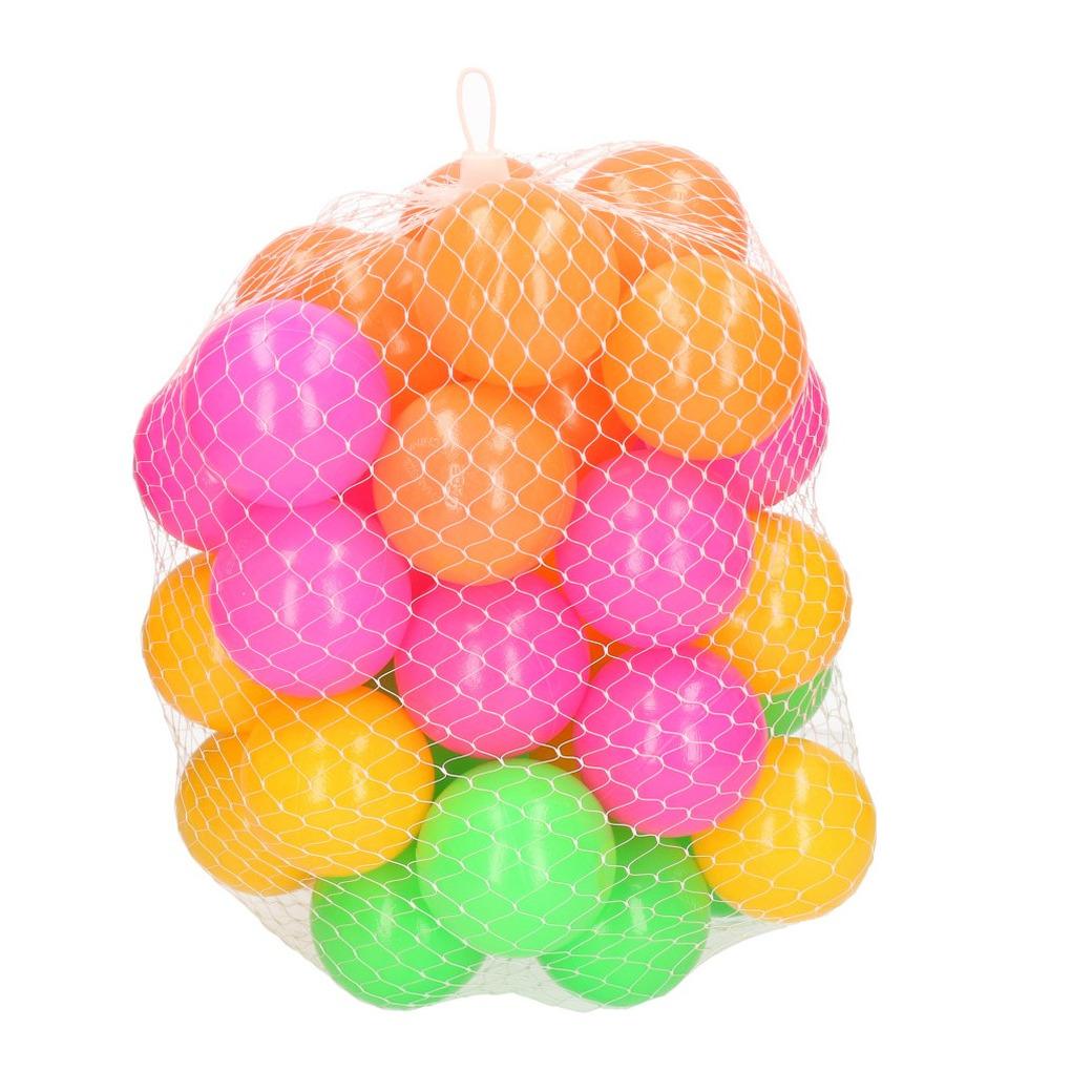 120x ballenbakballen neon kleuren 6 cm speelgoed