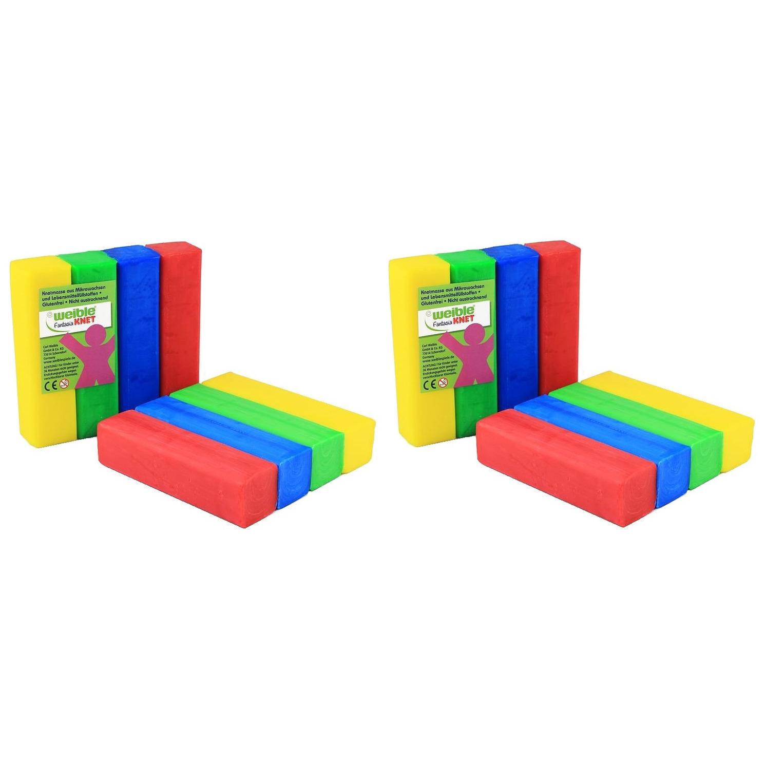 16x gekleurde fantasie klei blokken 100 gram creatief speelgoed voor kinderen