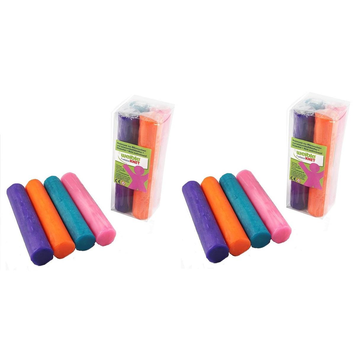 16x gekleurde fantasie klei rollen 100 gram creatief speelgoed voor kinderen