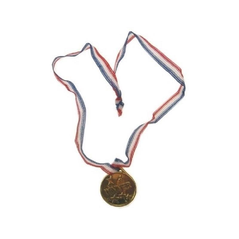 Zakjes met 18x goudkleurige party medailles