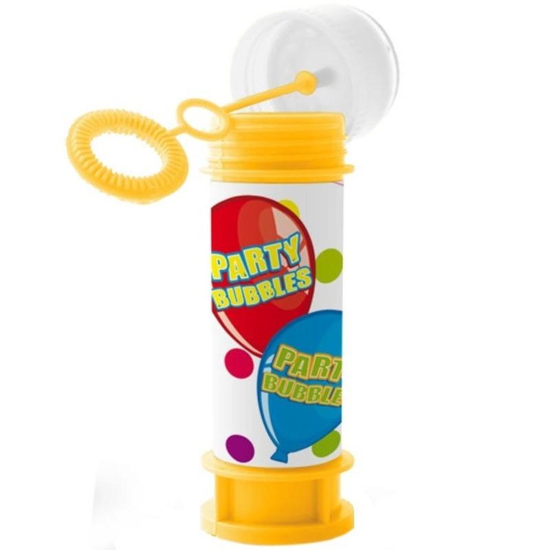1x kinder bellenblaas party bubbles 60 ml gekleurd flesje