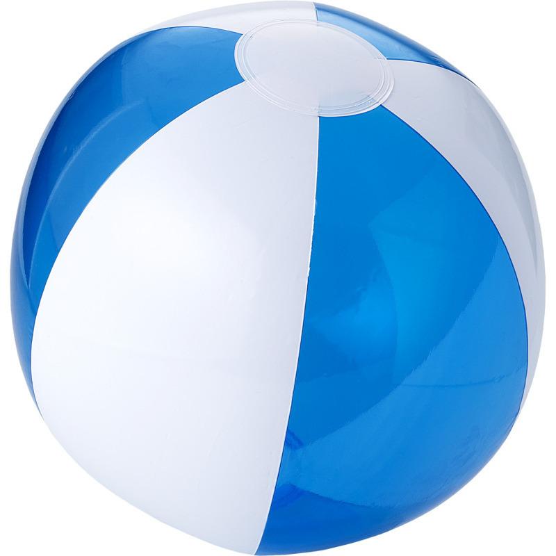 1x opblaas blauw witte strandballen 30 cm waterspeelgoed