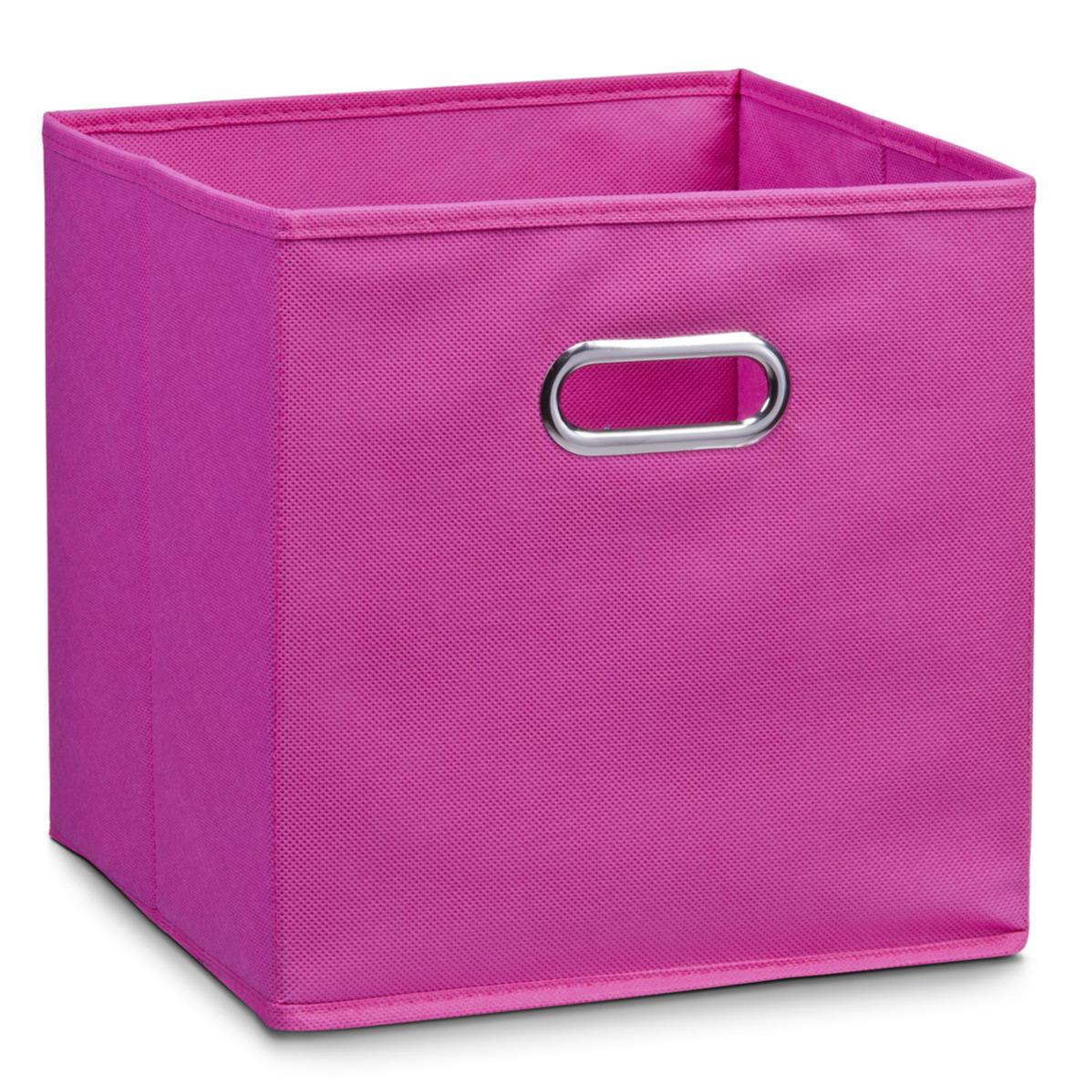 1x roze opbergmandjes kinderkamer 28 x 28 cm