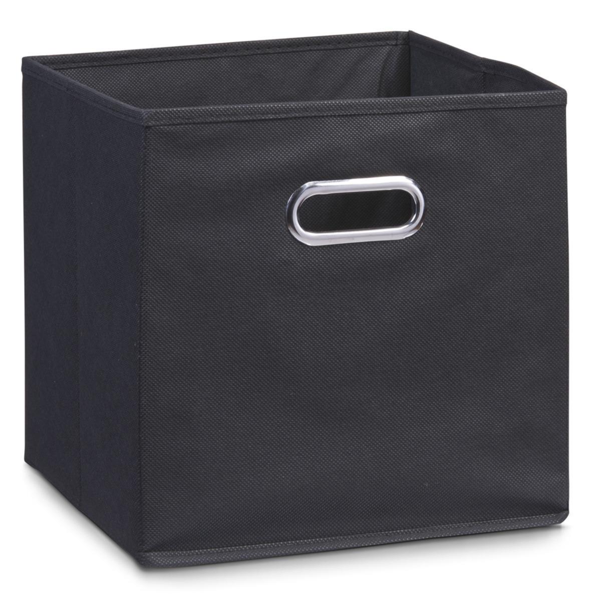 1x zwarte opbergmandjes kinderkamer 28 x 28 cm